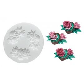 "Torto dekoras ""Silikomart rožė"", SLK242"