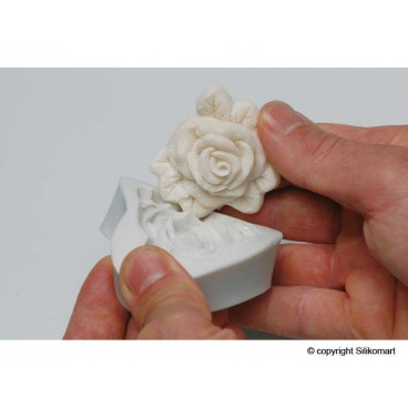 "Torto dekoras ""Silikomart rožė"", SLK351"