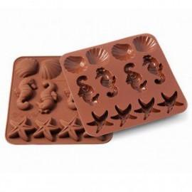 Silikoninė formele kepimui,šokoladui, ledukams, jūros gyventojai