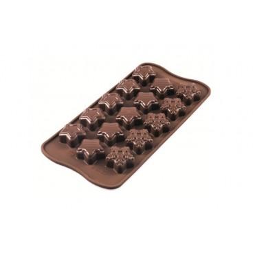 """Silikoninės formelės ledukams, šokoladui"""" Žiemos žvaigždės"""""""