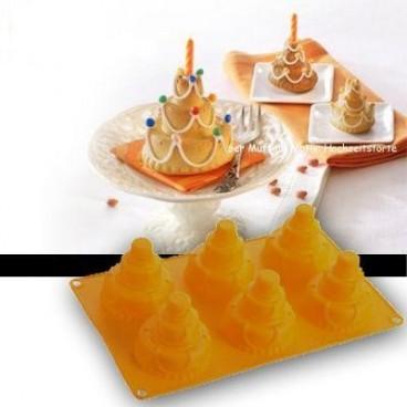 """Silikoninė kepimo forma """"Vestuvių tortas"""", 6 vnt."""