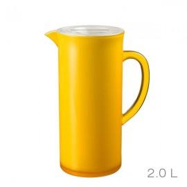 Ąsotis su dangteliu, geltonas, akrilinis/ 88759
