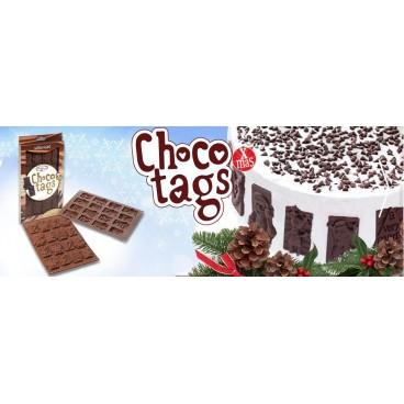 """Silikoninė forma """"Šokoladiniai linkėjimai Kalėdoms"""", 16 vnt."""
