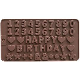 """Formelės šokoladiniams saldainiams, ledukams """"Happy Birthday"""""""