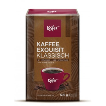 KAFFEE EXQUISIT KLASSISCH, malta kava, 500 g/ KÄFER