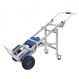Akumuliatorinis vežimėlis kroviniams lipantis laiptais