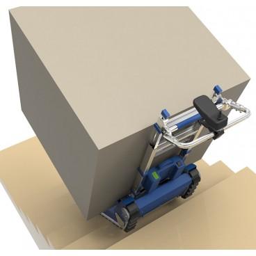 Akumuliatorinis vežimėlis kroviniams iki 420 kg kopiantis laiptais su vikšrine judėjimo platforma