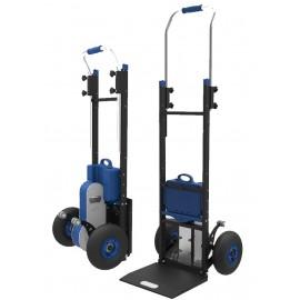 Akumuliatorinis vežimėlis lipantis laiptais kroviniams iki 170 kg plieniniu korpusu